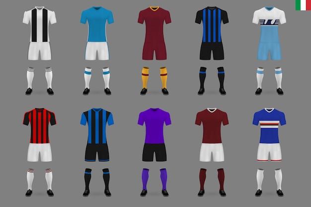 Set van italiaanse voetbalclub kit