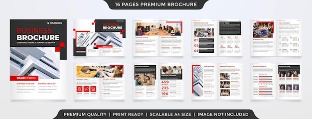 Set van jaarverslagsjabloon premium stijl