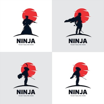 Set van japan ninja sword-logo