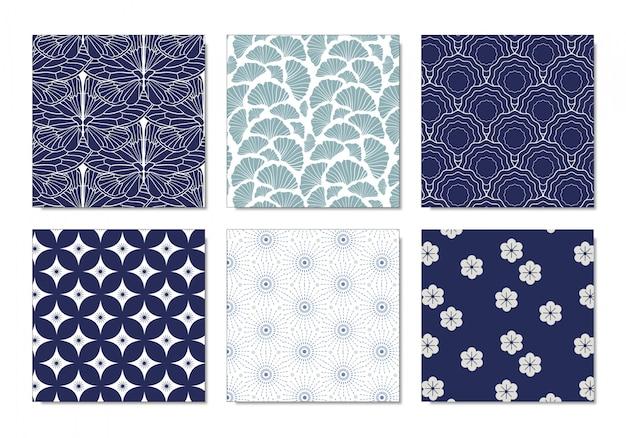 Set van japans patroon