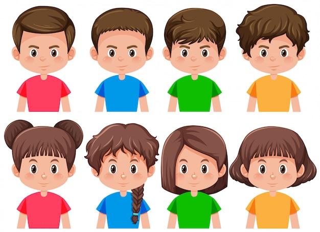 Set van jongens en meisjes