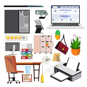 Set van kantoorapparatuur