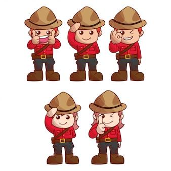 Set van karakter canada dag