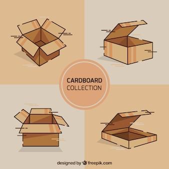 Set van kartonnen dozen voor verzending