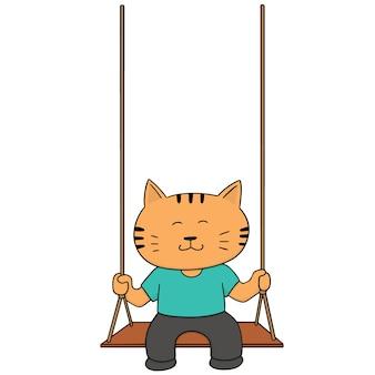 Set van kat schommel