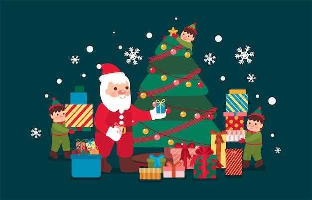 Set van kerst iconen
