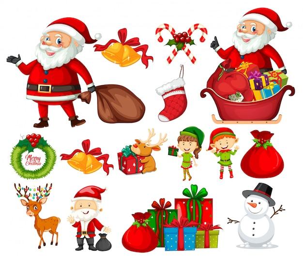 Set van kerstmis element