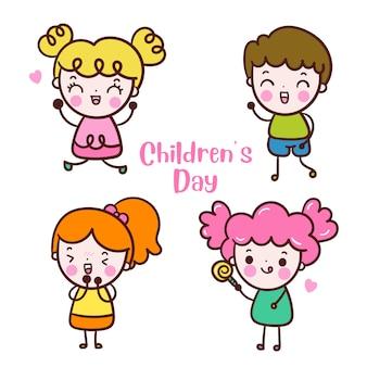 Set van kind voor kinderdag