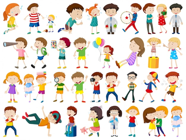 Set van kinderen karakter