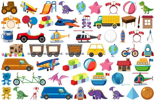 Set van kinderspeelgoed