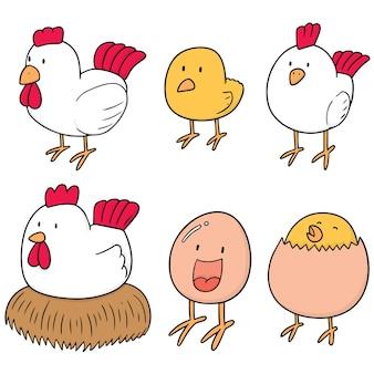 Set van kip en ei