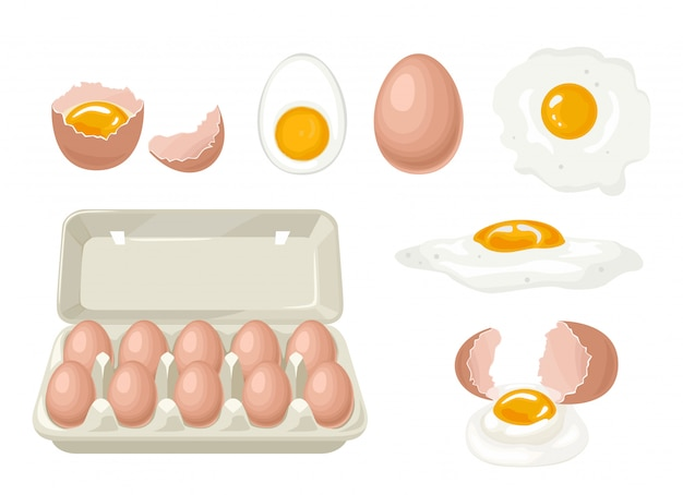 Set van kippeneieren.