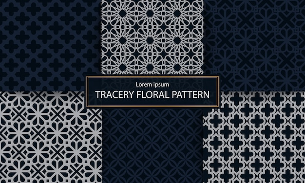 Set van klassieke maaswerk patroon vectorillustratie