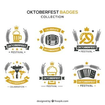 Set van klassieke oktoberfest badges