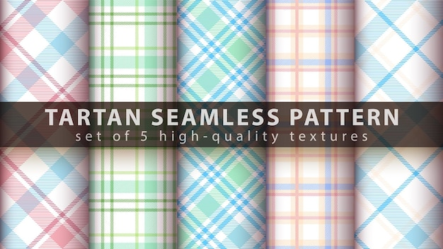 Set van klassieke tartan naadloze patroon