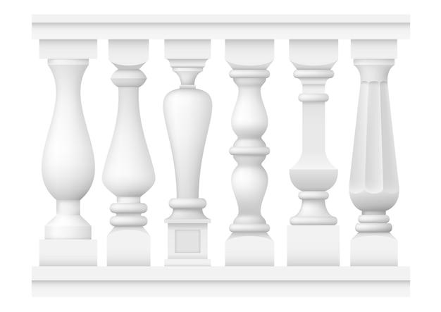 Set van klassieke tussenbalusters