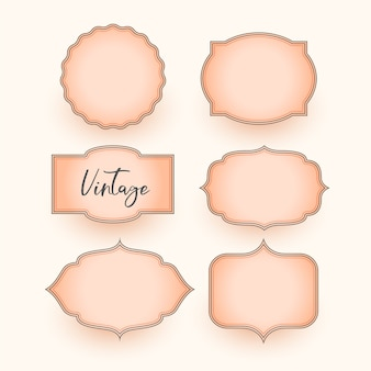 Set van klassieke vintage bruiloft etiketten ontwerp