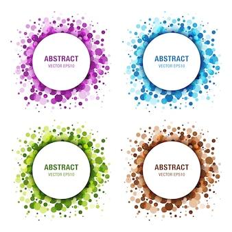 Set van kleurrijke abstracte cirkels.