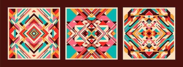 Set van kleurrijke abstracte patronen