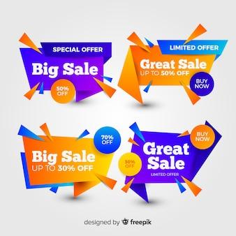 Set van kleurrijke abstracte verkoop banners