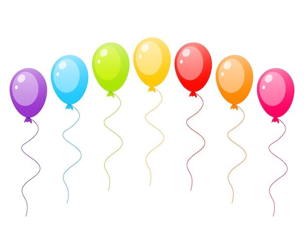 Set van kleurrijke ballons