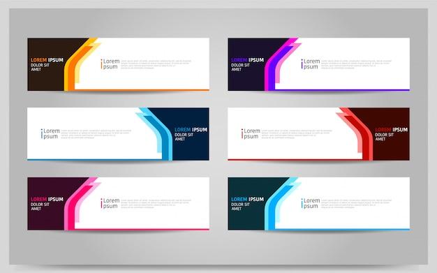 Set van kleurrijke banner