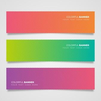 Set van kleurrijke banners