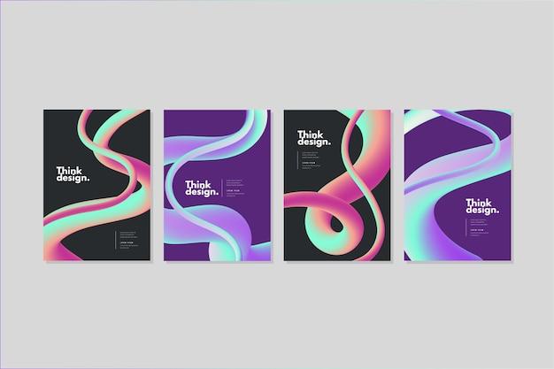 Set van kleurrijke covers met abstracte vormen