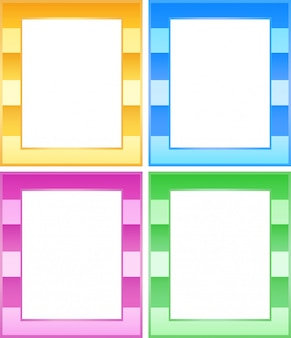 Set van kleurrijke frames