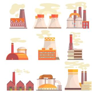 Set van kleurrijke illustraties op witte achtergrond