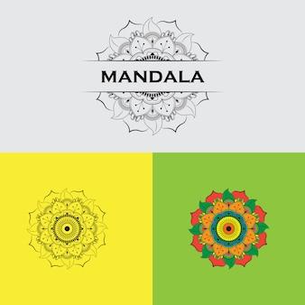 Set van kleurrijke mandala's.