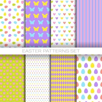 Set van kleurrijke naadloze patronen