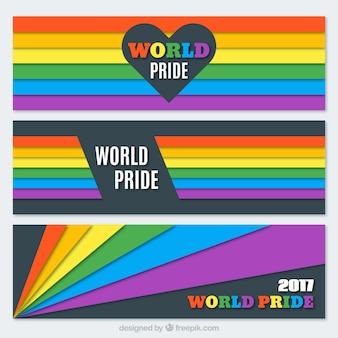 Set van kleurrijke strepen trotsdag