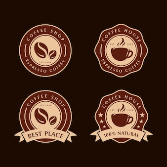 Set van koffie labels