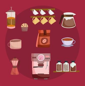 Set van koffie