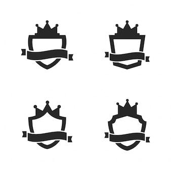 Set van koninklijke schild