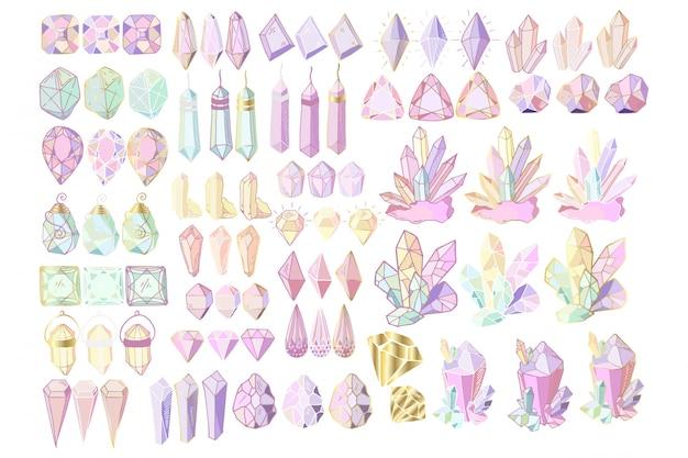 Set van kristallen