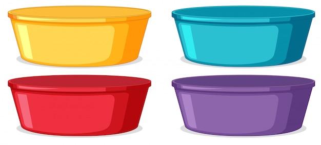 Set van kunststof container