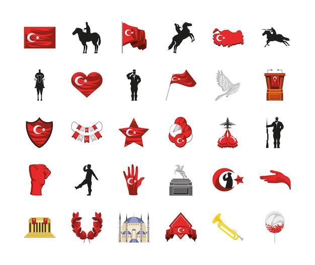 Set van land turkije