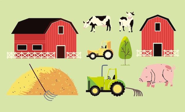Set van landbouw