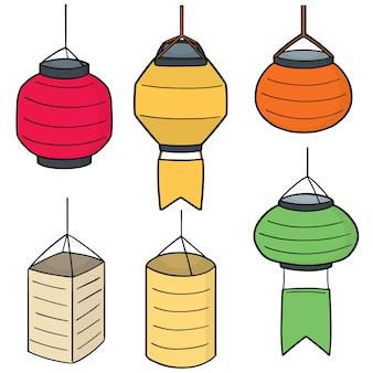 Set van lantaarns