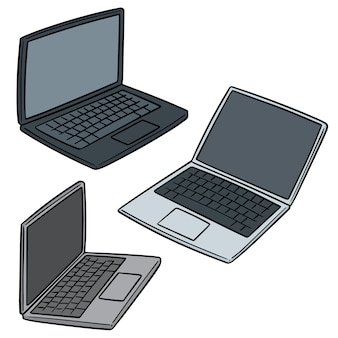 Set van laptop