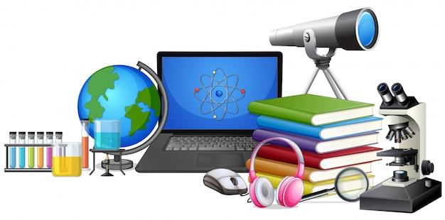 Set van leerapparatuur