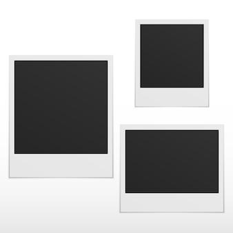 Set van lege fotolijsten met schaduw