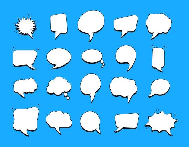 Set van lege tekstballonnen voor strips.