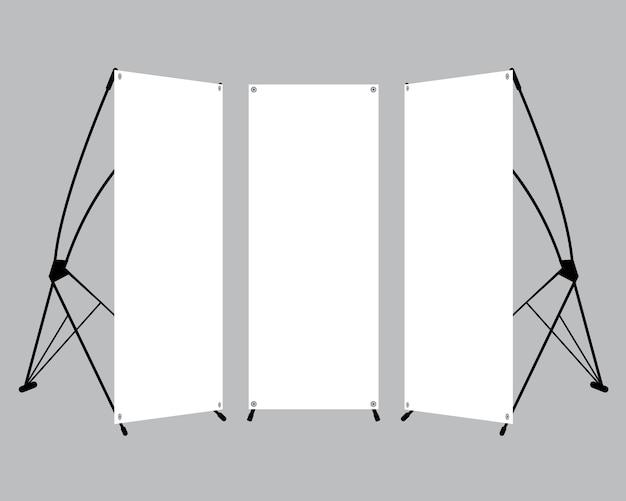Set van lege x-stand