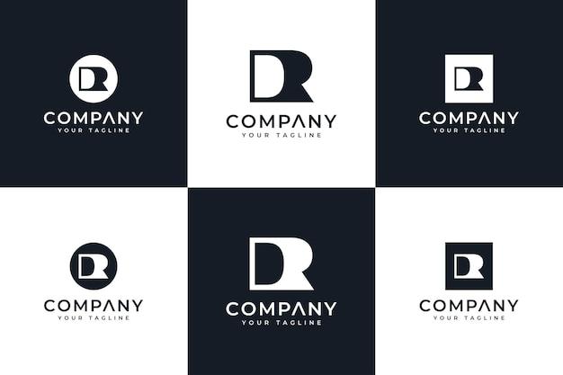 Set van letter dr logo creatief ontwerp voor alle toepassingen