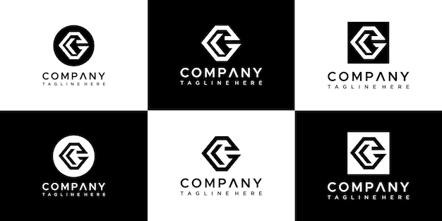 Set van letter g logo ontwerpsjabloon