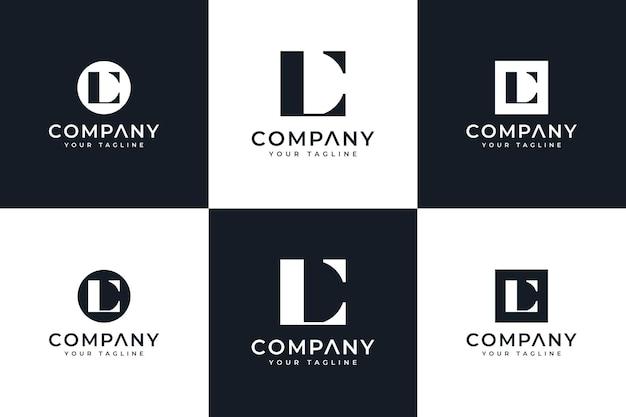 Set van letter lc logo creatief ontwerp voor alle toepassingen