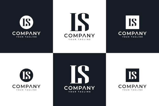 Set van letter ls logo creatief ontwerp voor alle toepassingen